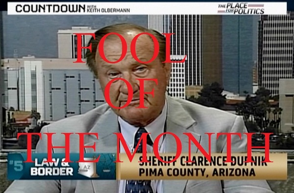 Pima County Sheriff Clarence Dupnik. for her, but Dupnik would.