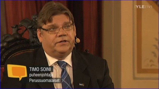 Timo Soini elections debate