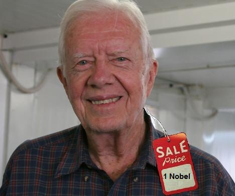 On the attack ... former US President Jimmy Carter.