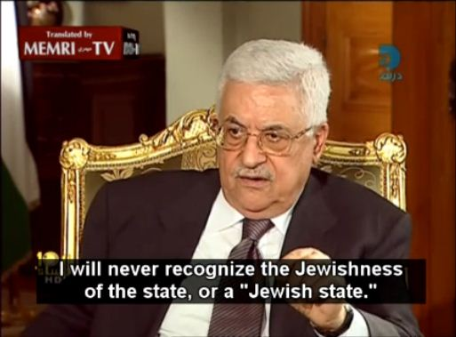 abbas i wll never recognize the jewish state  30.10.2011