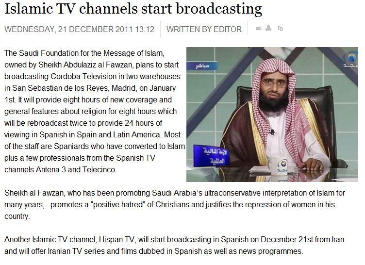 Seasons greetings from islam with hate spanish islamic tv source thenewsonline m4hsunfo
