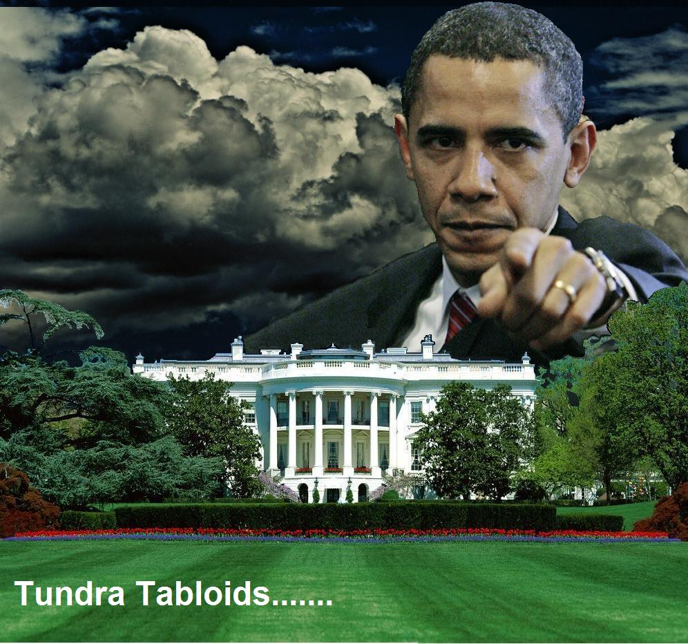 Obama dark-clouds white house
