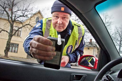 finnish police enforce breath test