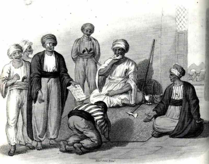 DHIMMI BOWING TO MUSLIM RULERS