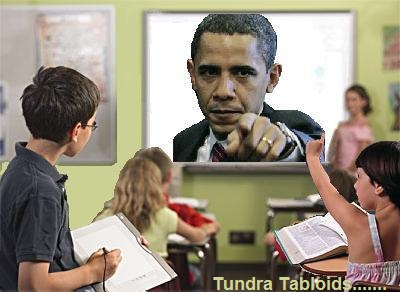 Obama in the class room