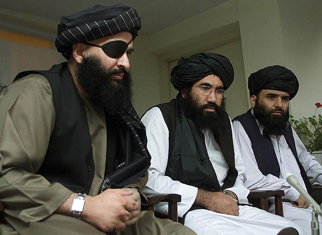 TALIBAN AMBASSADOR TO PAKISTAN ZAEEF LISTEN TO JOURNALISTS' QUESTIONS IN ISLAMABAD
