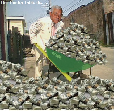 Abbas and the wheelbarrow of cash