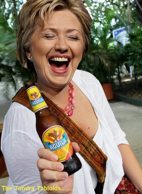 Hillary beer cheer