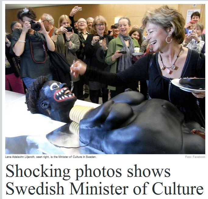SWEDISH BLACK FACE WITH MINISTER OF CULTURE 17.4.2012