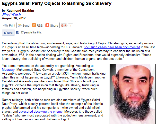egypt salafi against banning slavery 30.8.2012 View the Gallery / 5 Photos ». Apparently, the Nudie Hackers/Highly Advanced ...