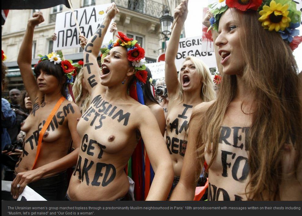 Go Topless Day Parade New York Stock Photos