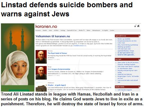 linstad stands by his words the state of israel is to be destroyed 21.11.2012