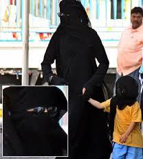MJ in a burqa