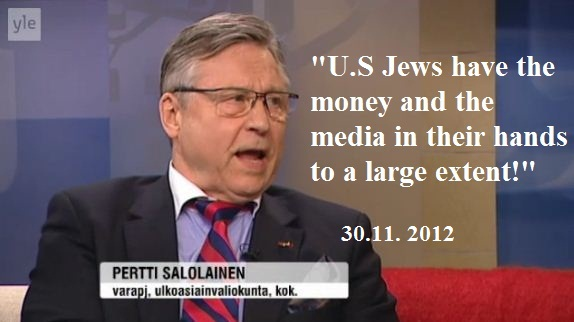 pertti salolainen anti-semitic smear on US Jews 30.11.2012