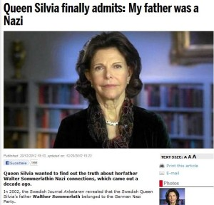 sweden queens father a nazi 22.12.2012