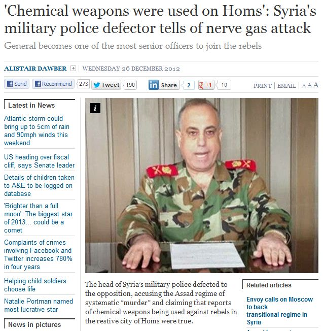 syrian general defects says assad used nerve gas 27.12.2012