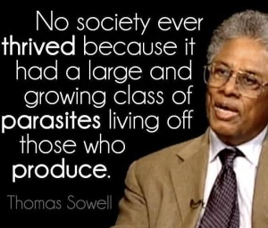 thomas Sowell on takers of society