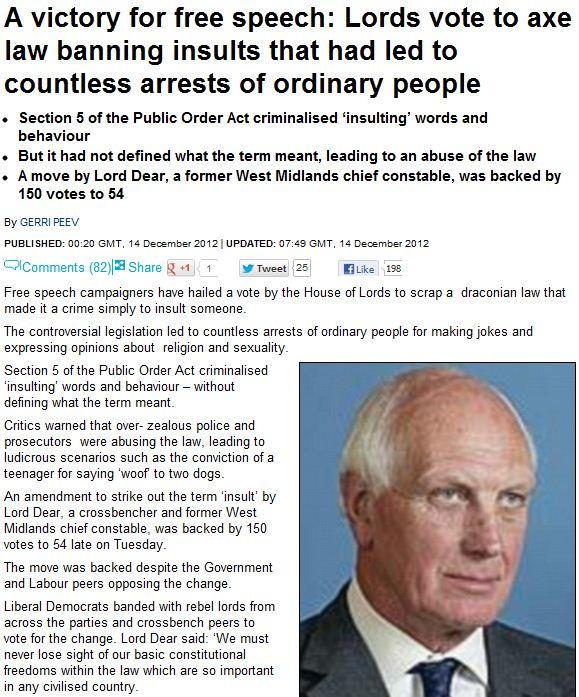 uk lords ban ban on free speech 15.12.2012