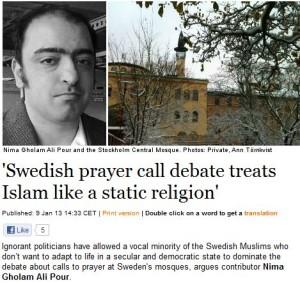 PRAYER DEBATE IN SWEDEN 10.1.2013