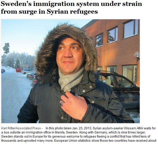 SWEDEN IMMIGRATION UNDER STRAIN FROM SYRIAN REFUGEES 30.1.2013