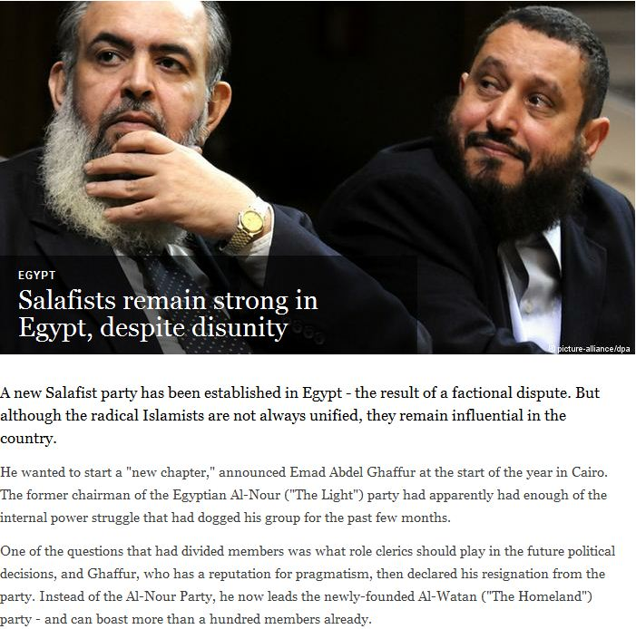 Salafists remain strong in egypt 5.1.2013