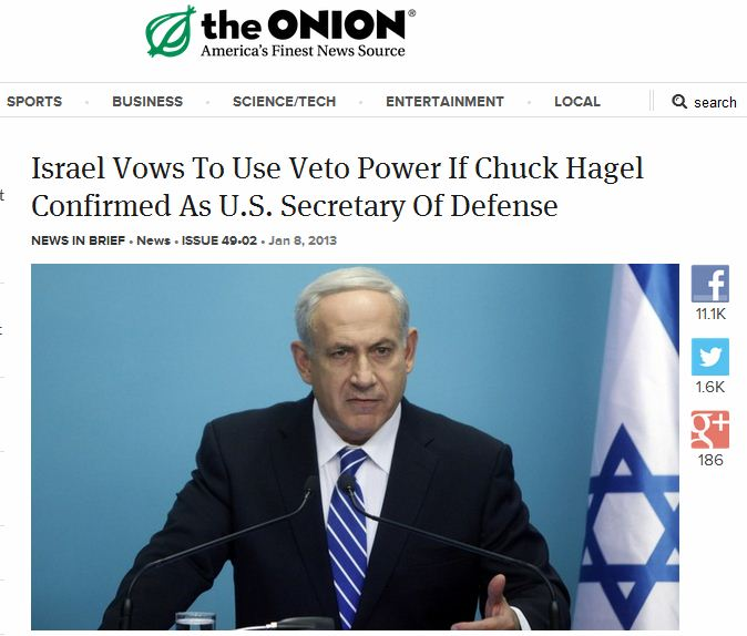 THE ONION BIBI HAGEL NOMINATION 9.1.2013