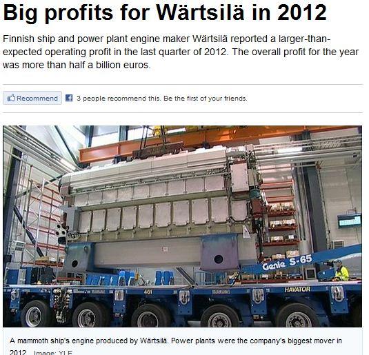 WÄRSTILÄ BIG PROFIT 27.1.2013