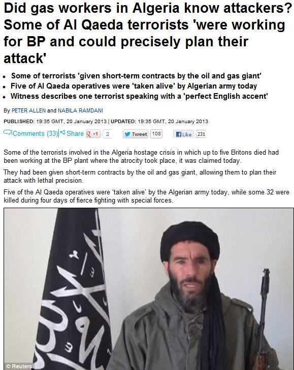 bp gas workers supposedly knew al-qaida attackers 21.1.2013