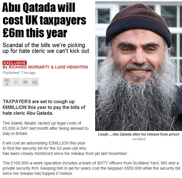 hate cleric the uk can't get out costing taxpayers 6 million 27.1.2013