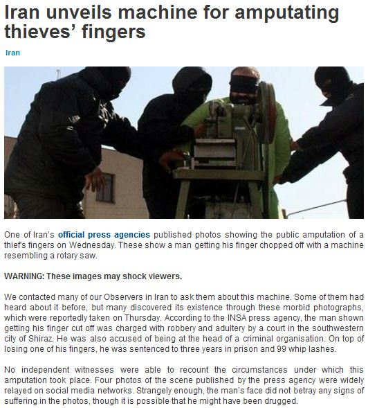 iranian finger chopping machine 27.1.2013