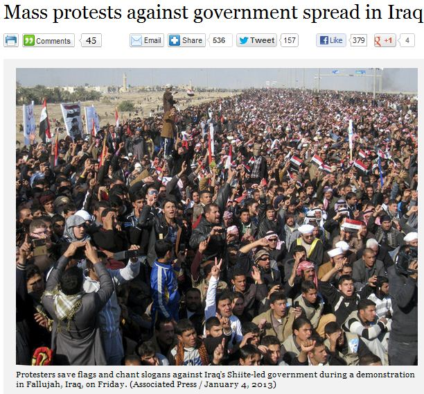 mass protests in iraq 5.1.2013
