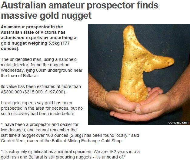 massive gold find down under 18 1 2013