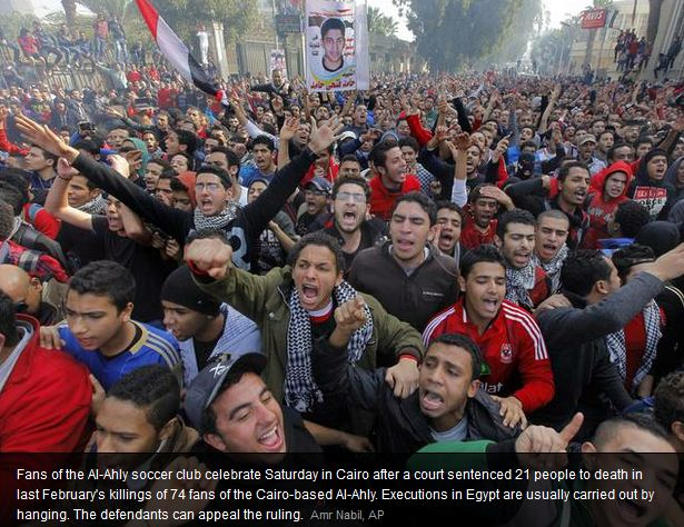 more egyptians dead after court verdict announced 28.1.2013
