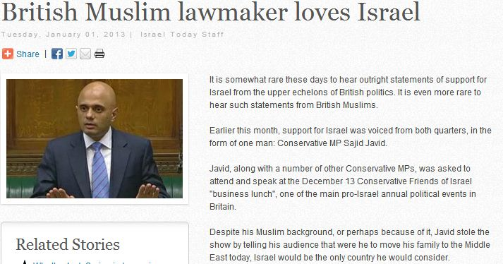 muslim uk lawmaker loves israel 2.1.2013