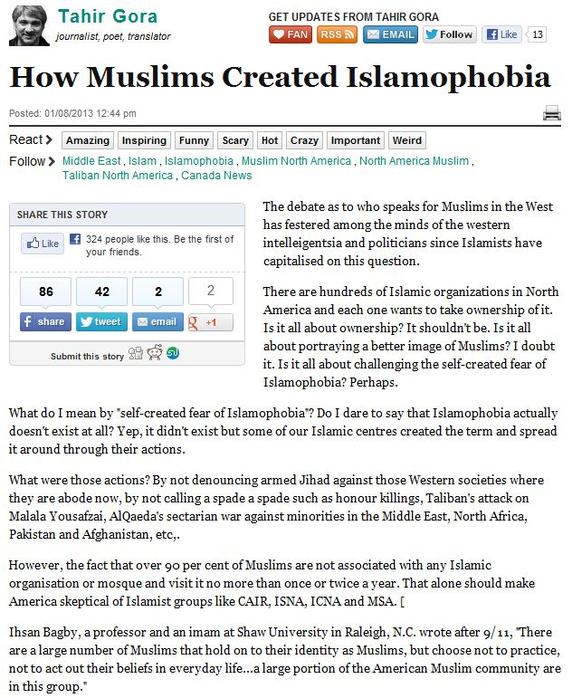 muslim denounces ruse of islamofauxbia 11.1.2013