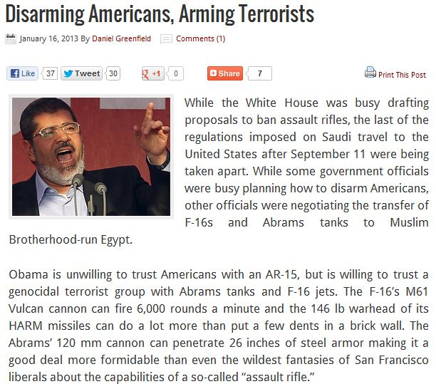 obama trusts the MB but not his own citizens 16.1.2013