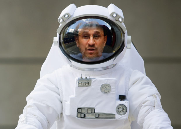Ahmadinejad in space