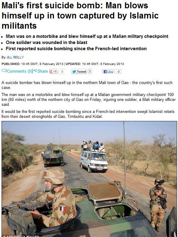 Mali suicide bomber 8.2.2012