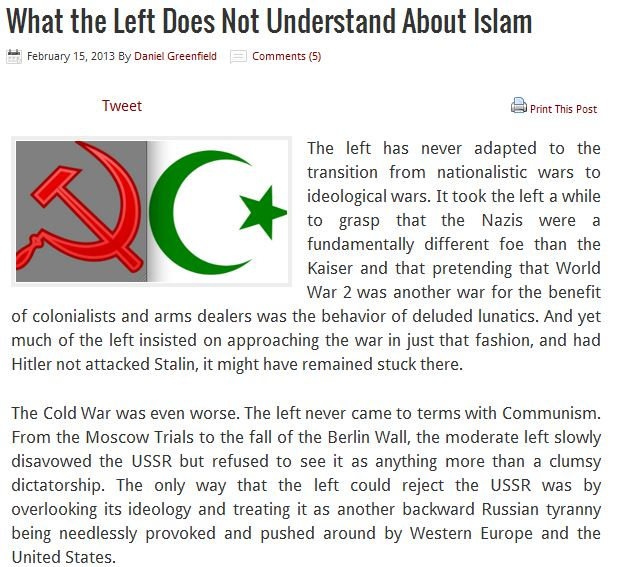 WHAT THE LEFT FAILS TO UNDERSTAND ABOUT ISLAM 15.2.2013