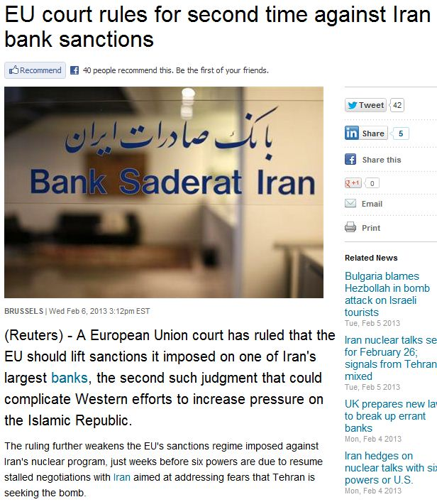 eu court rules agianst ban on iran bank 7.2.2013