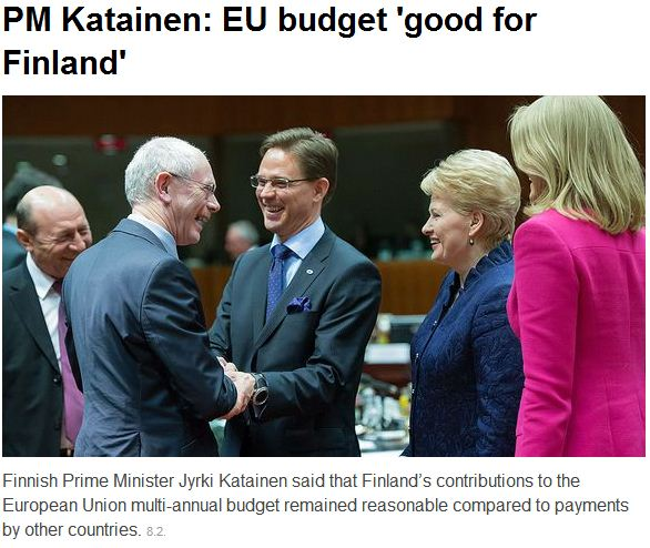 finnish pm says budget deal with eu - good 9.2.2013