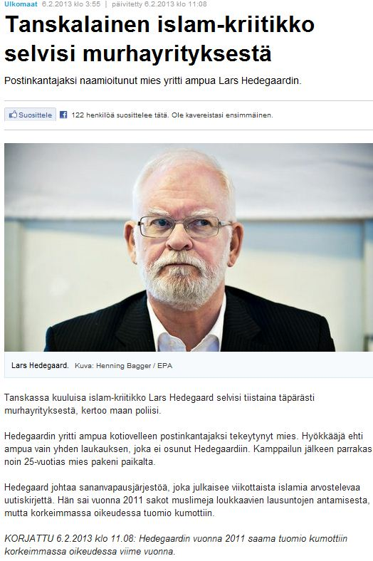 lars hedegaard story corrected 7.2.2013