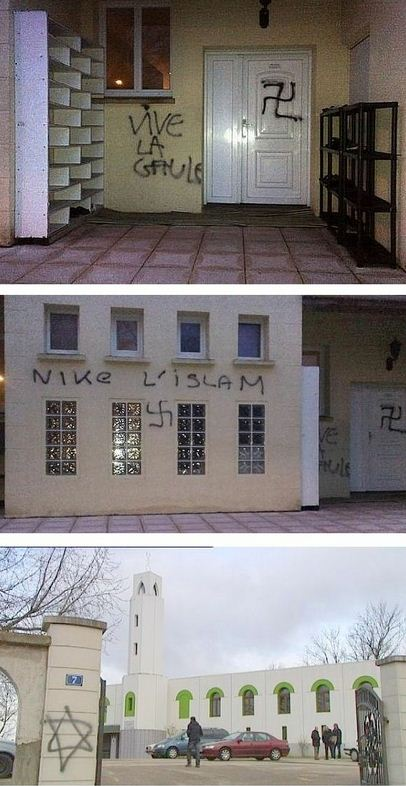 mosque defaced
