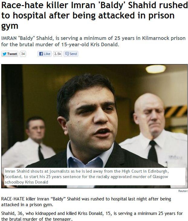 muslim murderer gets attacked in prison 14.2.2013