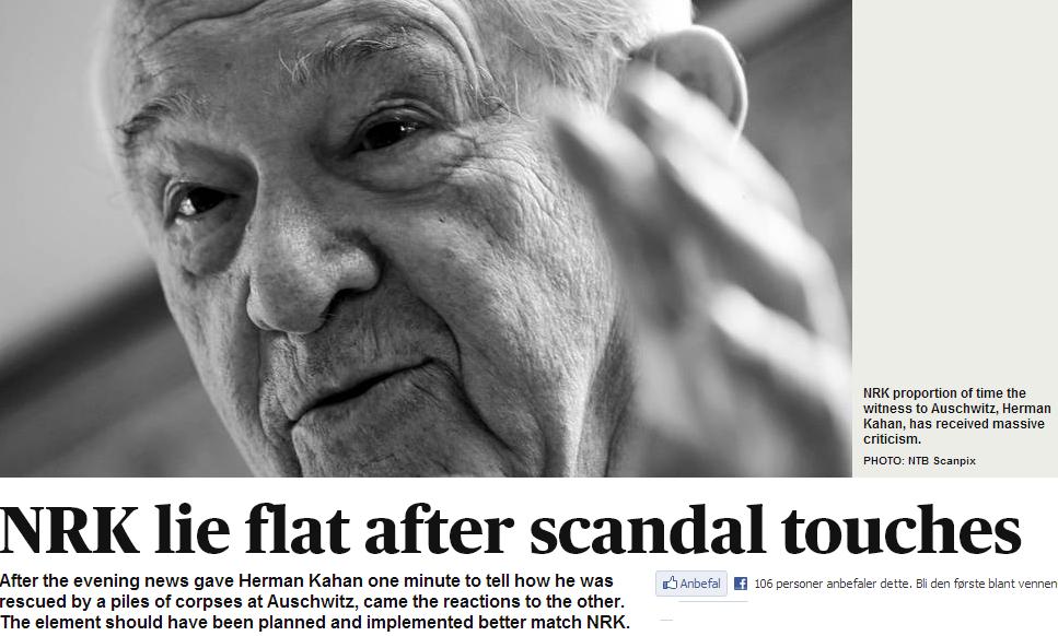 nrk holocaust survivor interview scandal 28.2.2013