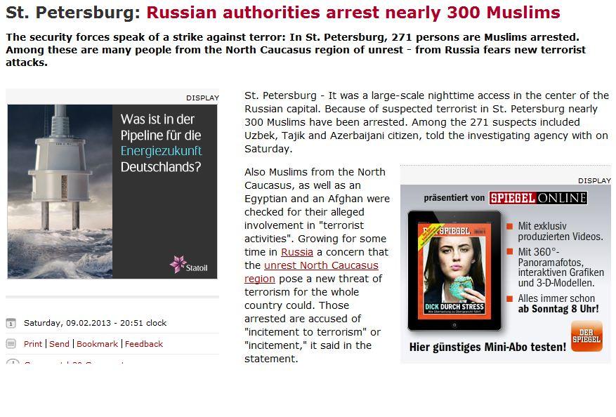 russia mass arrest of muslims suspected of terrorism 11.2.2013