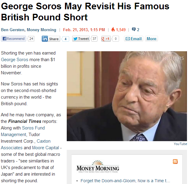 soros after the pound again 24.2.2013