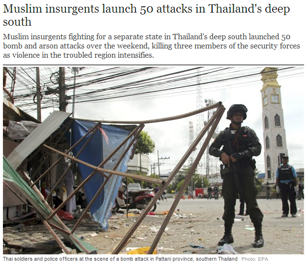 tards launch attack deep into thailand 19.2.2013