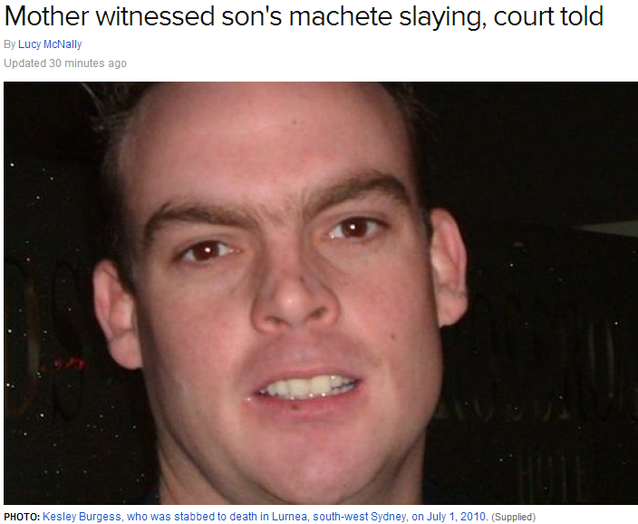 AUSSIE MOTHER WITNESSED HER OWN SONS BRUTAL MURDER 19.3.2013