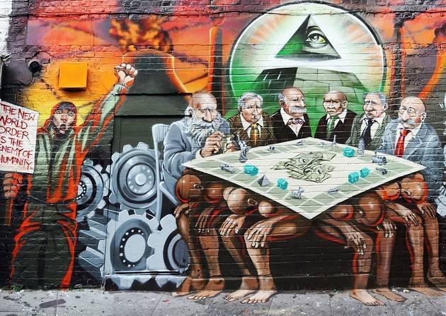 Jewish conspiracy-mural